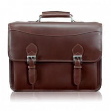 "Belvedere 15.4"" Leather Double Compartment Laptop Case"